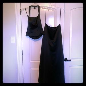2 Peice Black Formal Gown set. Size 6.